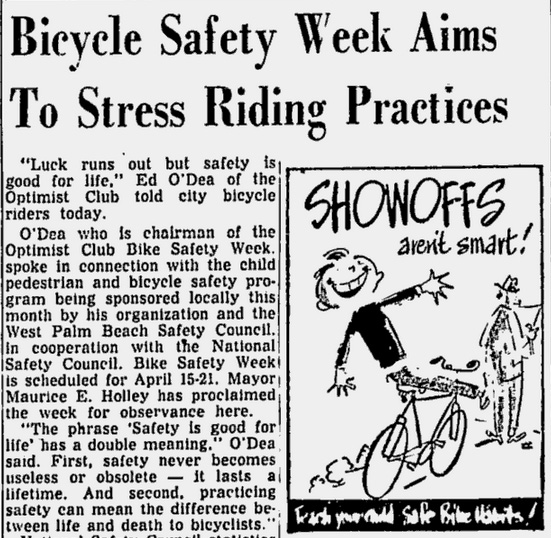 April 15, 1956 story from the Palm Beach Post.