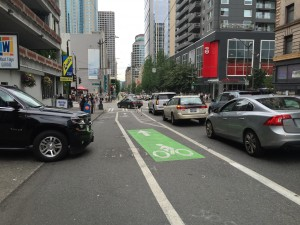 Downtown street, Seattle Washington