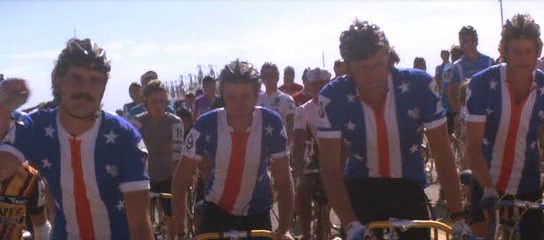 The American National Team at the start line.